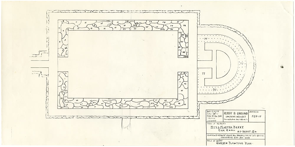 Planting plan for formal garden
