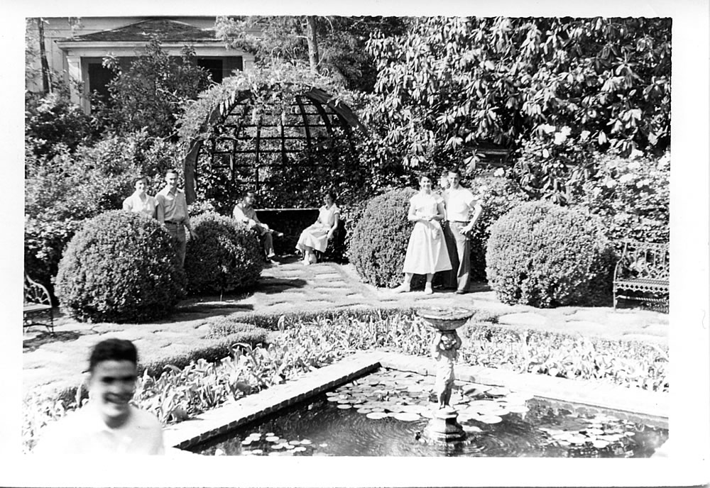 Berry Students in the Goldfish Garden, ca. 1950