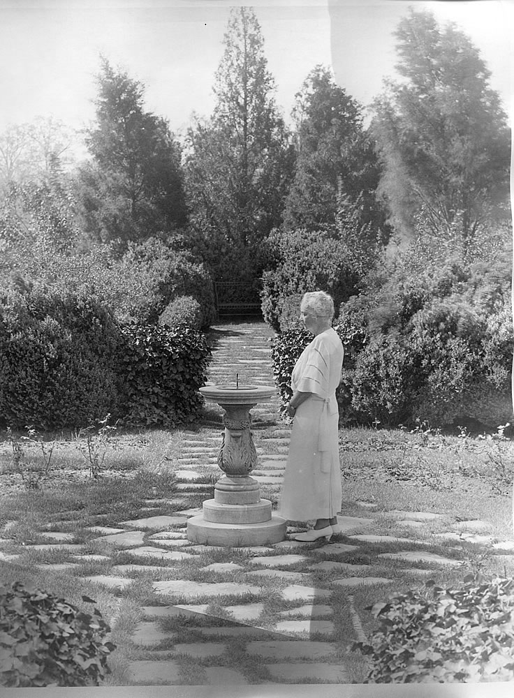 Martha Berry in the Sundial Garden