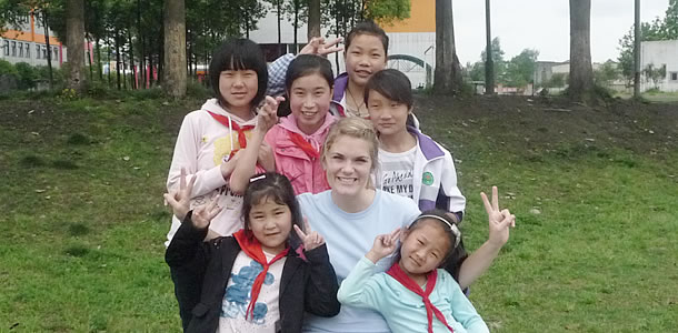 Global Service Student with Children