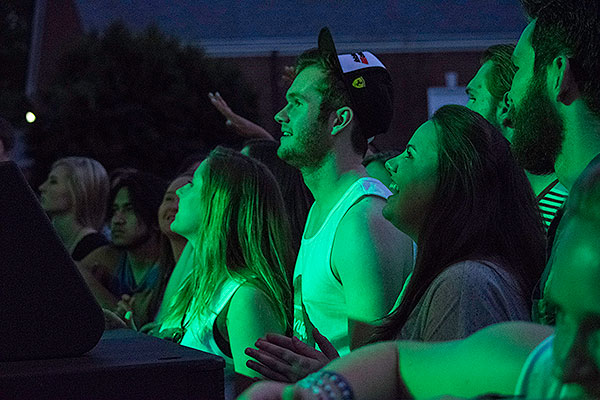 Spectators at the finals fest concert