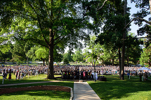 15 - All attendees on the south Evans lawn for commencement