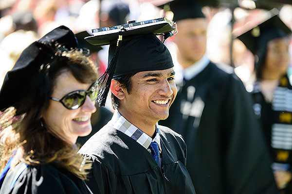 19 - Male student who engineered his cap to move the tassle automatically