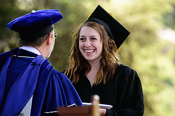 07 - Grace Barker receiving her diploma