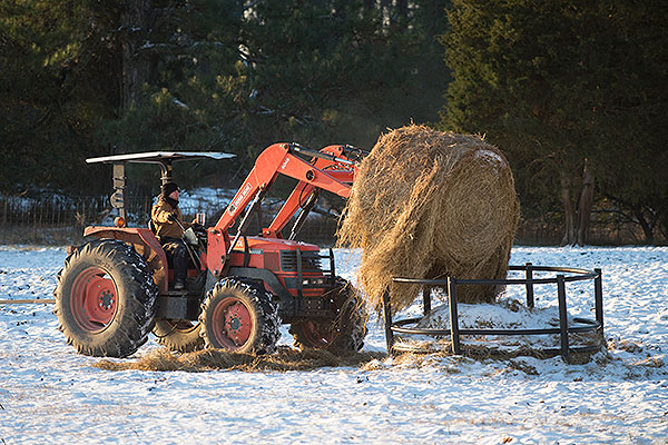 06 - Tractor with bale of hay