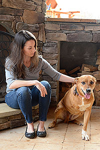 Kelly Grisham - with her dog Lilly