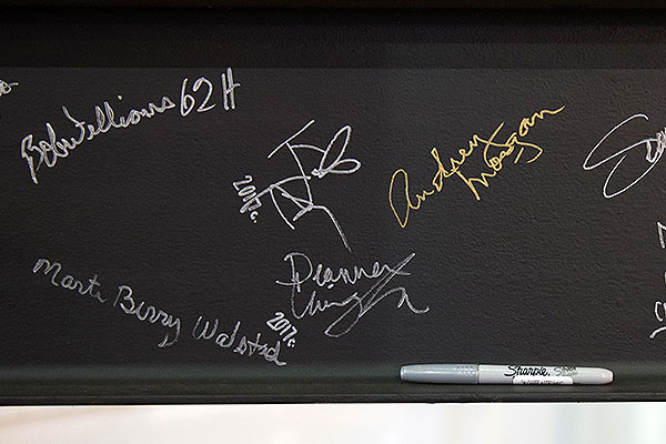 Gallery - Signatures on theatre beam