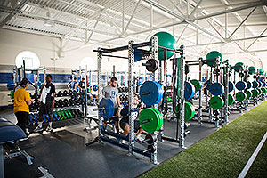 Renovated weight room