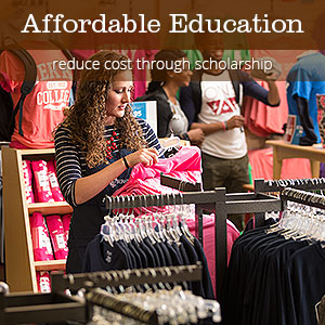 Affordable Education - reduce cost through scholarship
