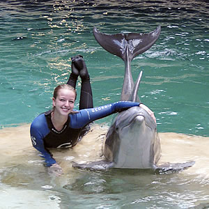 Kaitlyn Long with Dolphin
